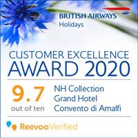 BA Holidays Excellence Award 2020 Convento di Amalfi